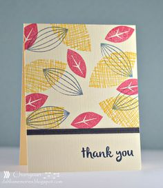 Card created with Avery Elle Modern Leaves stamp set.  Love the retro vintage appeal.