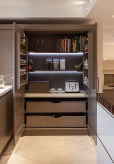 Everything tucked away. Kitchen. pantri, kitchen idea, hous, tea point
