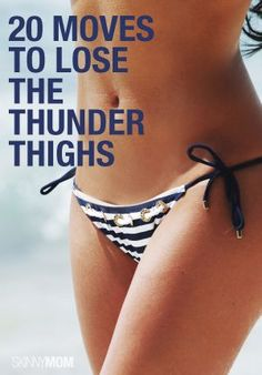 Get those thighs thinned out fast with these 20 moves! This is the best thigh work out ever! thunder thigh, leg workout, leg jiggl