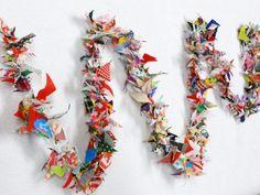 Sewing room Christmas tree garland? birthday parties, christma tree, fabric garland, christmas trees
