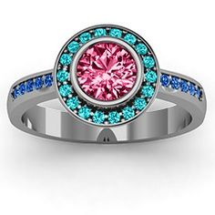 Circles of Love Ring. Thyroid Cancer Colors