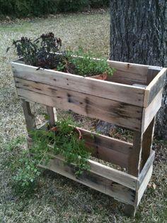 Pallet wood herb planter ..