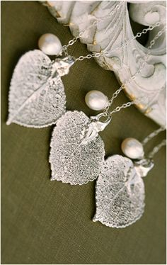 lovely leaf necklaces.