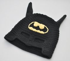 Crocheted hats for little geeks in training.  Wanted to make my nephew a batman one, @Sara Smith (sara smith.)  Came across this.  Really cute.  :))