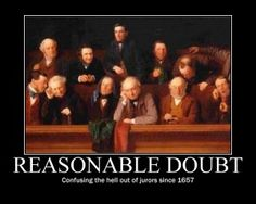 Reasonable Doubt: Confusing the hell out of jurors since 1657.