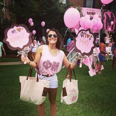 Phi Mu on Bid Day