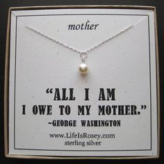 Gift for Mother  Gift for Mom  Mother Necklace with by LifeIsRosey, $28.00