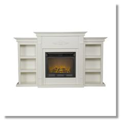 built in bookcase fireplace
