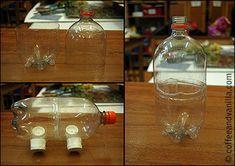 Recycled Plastic Bottle Piggy Bank – Half Term Kid's Crafts
