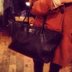 Spotted! This lucky lady's Chanel handbag. #HandbagSpy www.handbag.com