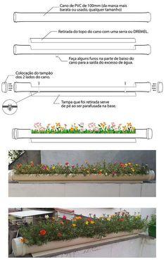 Canteiro de flores pvc