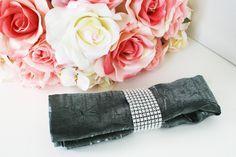 Wedding Party Silver Rhinestone Diamond Napkin Ring. %s%.75, via Etsy.
