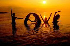 LOVE at sunset. I wanna do this.