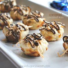Caramel Coconut Kiss Cookies.