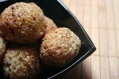 bolas de patata y sobrasada