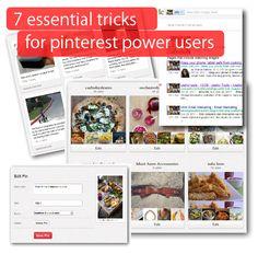 Seven essential tricks for Pinterest power users #digital #online #marketing #blog #socialmedia #SEO #blog #tools #seo #infographics #google #branding #brand #media #facebook #twitter #pinterest