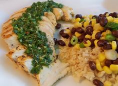 Garlic lime chicken with chimichurri #Recipe #Dinner