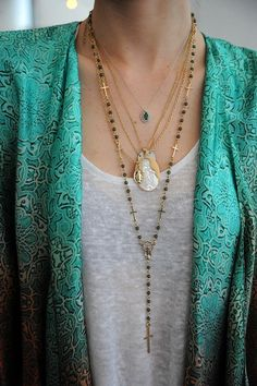 #necklace #layers #jacket