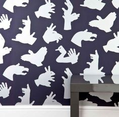 A Little Nice Gesture! Gotta love this shadow puppet wallpaper by Paper Boy