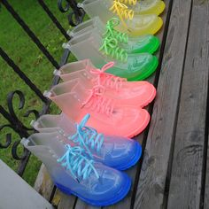 Bota de chuva PVC transparente