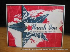 Thank YOU Veterans. Stampin Up Single stamp Christmas Star
