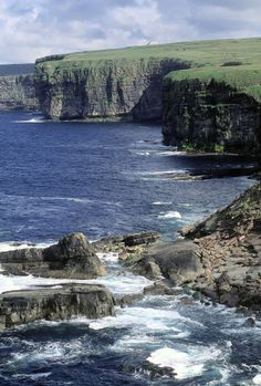 Ballycastle's rugged coastline has been etched out by the invading Atlantic Ocean in North County Mayo.