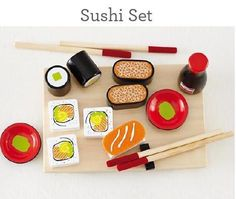 Wooden sushi set fro