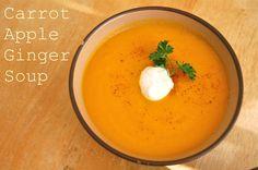 soups, appl ginger, ginger soup, aprons, carrots