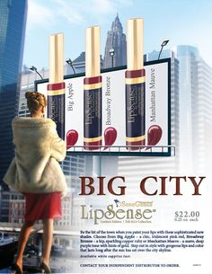 "New for Fall 2013, the LipSense ""Big City"" Collection. 3 perfect long-lasting shades for Autumn!"