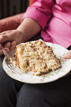 For a sweet, moist, and nutty treat, look no further than this layered pecan cream cake.