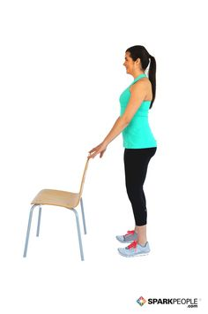Sculpt your calves (while keeping your balance) with this simple move. | via @SparkPeople #workout #fitness #lowerbody