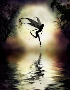 Moonlit Water Large 16x20 Print by Fairy Artist by juliefainart, $30.00