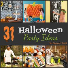 31 Halloween Party Ideas from sixsistersstuff.com.  Looking for some last minute Halloween party ideas?  We've got you covered! #halloween #party