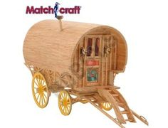 This Matchcraft Bow Top Caravan includes everything needed to make this matchstick model kit.  Included are all the pre-cut card formers along with the glue, matchticks and full instructions. These instructions will guide you through each stage of the construction until you finally achieve the finished product.  We would highly recommend this Matchcraft Bow Top Caravan.    Approx size of finished model:  210mm long, plus 130mm shafts  130mm wide  120mm high.
