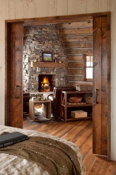 Beautiful Wood Sliding Bedroom doors.