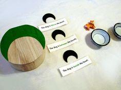 Preposition Box - A Montessori Parts of Speech Lesson by amy_lou_who, via Flickr