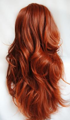 It's a wig but it's gorgeous!  SALE . AUTUMN Darling wig // Auburn Red Hair // by MissVioletLace, $76.80