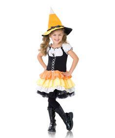 Loving this Candy Corn Witch Dress-Up Set - Toddler & Girls on #zulily! #zulilyfinds