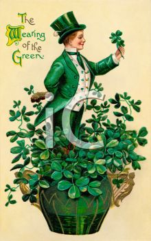 Vintage St. Patrick's Day Postcard-The Wearing of the Green