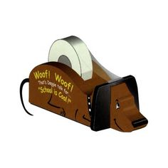 Wooden Dachshund tape dispenser. Too cute!
