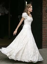Country western style wedding dress