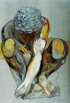 After Michelangelo's 'Squatting Child,' 1982  Salvador Dali