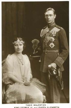 King George VI's and Queen Elizabeth on their wedding day