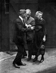 France. MadameMarie Curie, co-discoverer of Radium, at the Radium Institute in Paris,1921