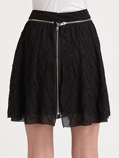 Fashion Star - Zip Mini Skirt by Orly Shani - Saks.com