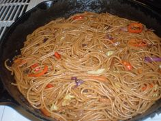Making Chow Mein