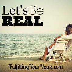 Let's Be Real :: Dwana shares her thoughts about the importance of praying together as a husband and wife. :: FulfillingYourVows.com