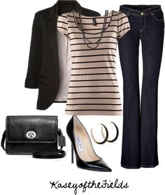 """""""Pink and Black"""" by kaseyofthefields ❤ liked on Polyvore"""
