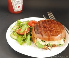 5:2 Diet and Healthy Portabello Mushroom Burger http://www.london-unattached.com/2014/07/healthy-burgers-5-2-diet-portabello-mushroom-burger/