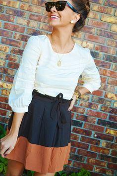 rust-navy block & classic shades